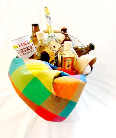 gift met diverse cologne en spirrituele dranken