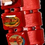 Religieuze armband- Rood