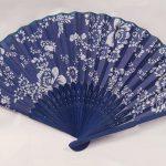 Bloemen waaier Blauw/wit