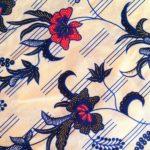 """Jampaneze pangi """"Creme blauwe bloemen""""1.50m"""