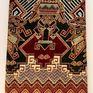 Bruin groene goud kleurige sarong