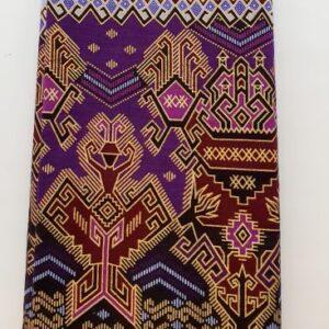 paars bruin goud kleurige sarong
