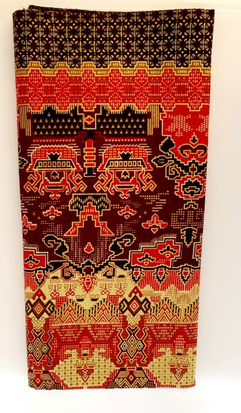 sarong bruin rood goudkleurig